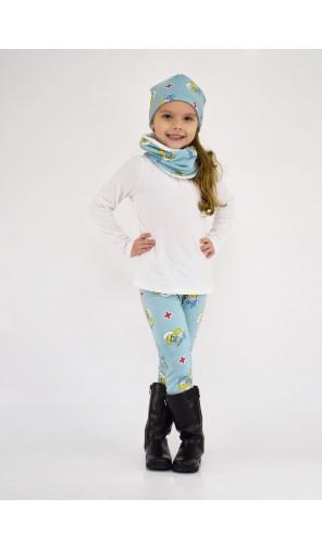Dívčí vyteplená čepice Šmoulinka