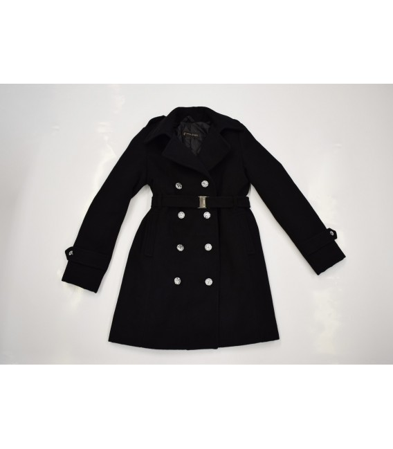 Dívčí kabát s dvouřadovým zapínáním