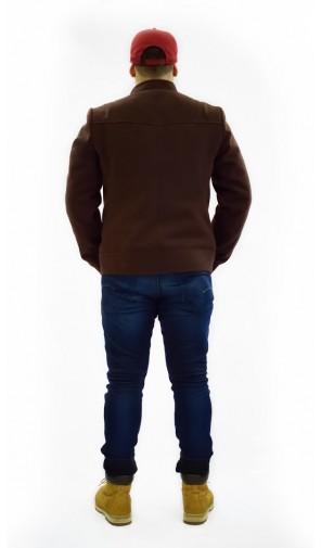 Pánská kabátová bunda se zipy