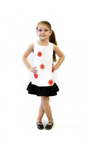 Dívčí šaty s ručně vyrobenou aplikací