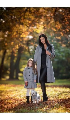Dívčí zimní kabátek A střihu