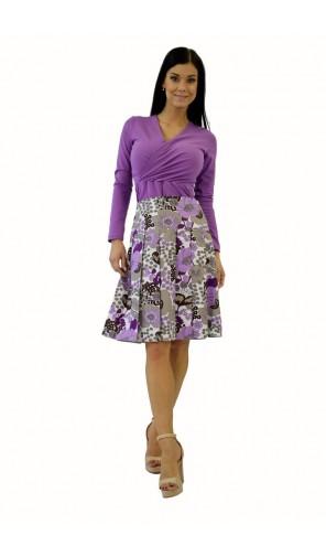 Dámská skládaná květinová sukně
