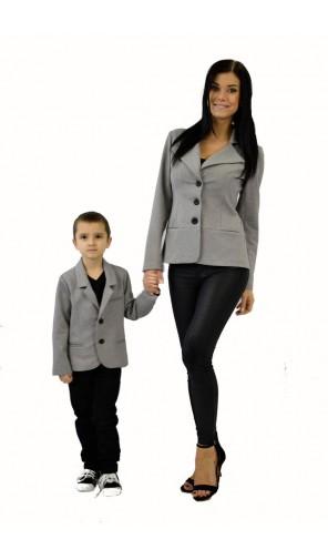 Chlapecké sako šedé