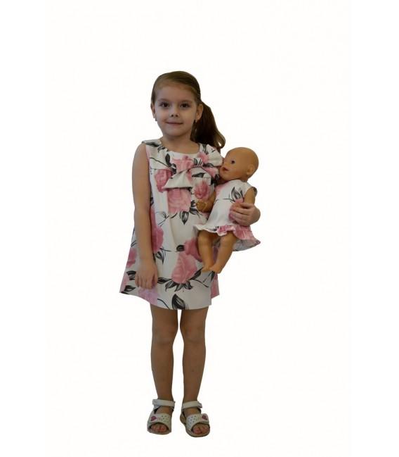 Dívčí šaty s mašlí