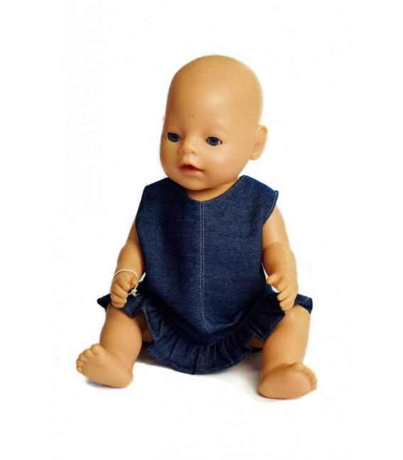 Džínové šaty pro Baby Born a Chou Chou