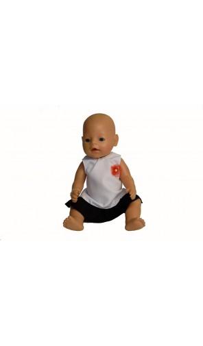 Šaty s aplikací pro Baby Born a Chou Chou