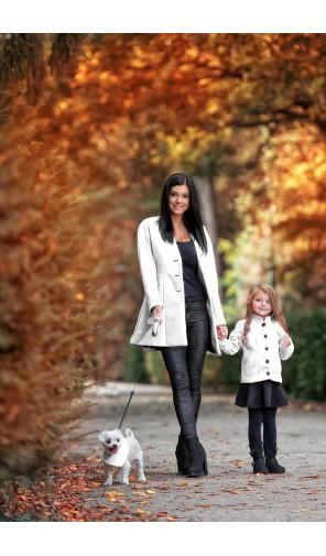 Dívčí kabát se stojáčkem