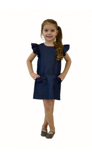 Dívčí šaty s volánovými rukávy