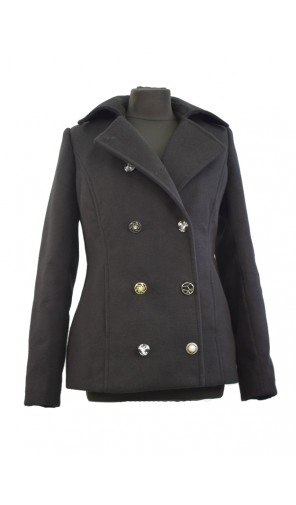 Dámský zimní kabát s dvouřadovým zapínáním