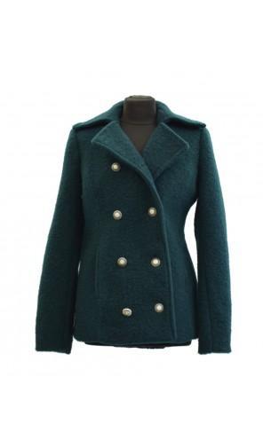 Vlněný zimní dámský kabát s dvouřadovým zapínáním Exclusive