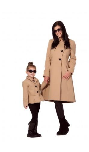 Dívčí zimní kabátek s volánem