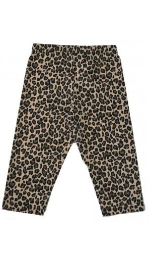 Dětské leopardí tříčtvrteční legíny