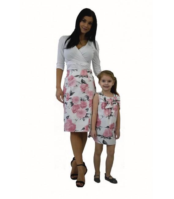 Máma a dcera kabát se šálovým límcem