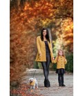 Máma a dcera kabát bez límce