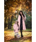 Máma a dcera kabát se sedlem