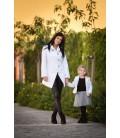 Máma a dcera kabát se zapínáním na poutka
