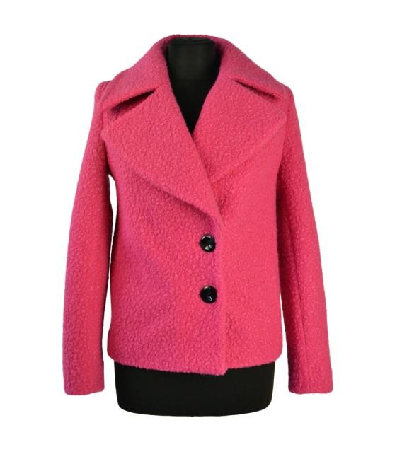 Dámský vlněný kabát do pasu