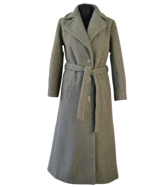 Dámský dlouhý vlněný kabát