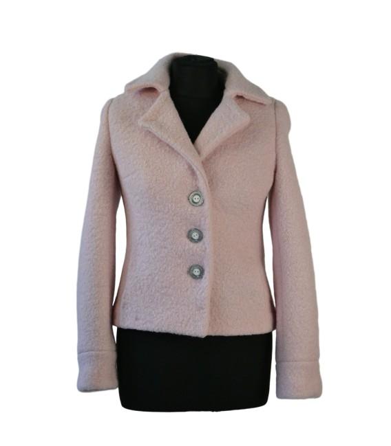 Dámský vlněný kabát s fazonkou