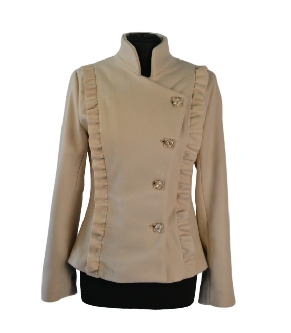 Dámský luxusní kabátek s vyšším stojáčkem
