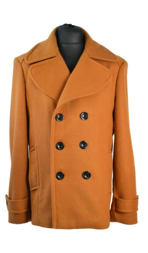 Pánský vlněný kabát s dvouřadovým zapínáním Exclusive