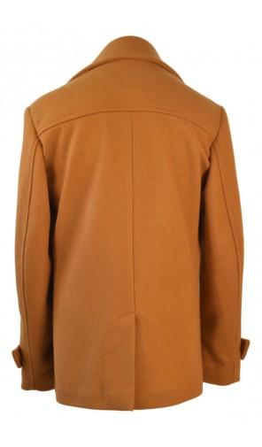 Pánský vlněný kabát s dvouřadovým zapínáním