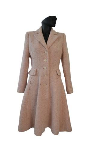 Dámský romantický vlněný kabát Exclusive