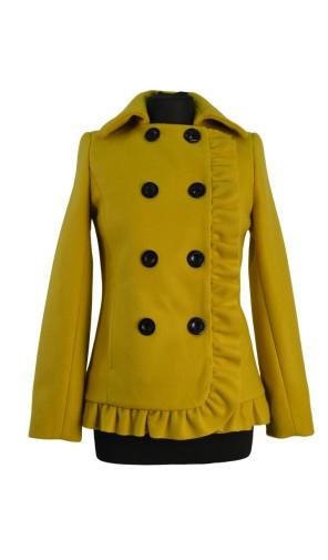 Dámský vlněný kabát s dvouřadovým zapínáním