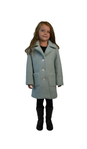Dívčí vlněný kabát áčkového střihu Exclusive