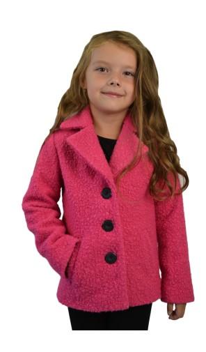 Dívčí vlněný kabát do pasu