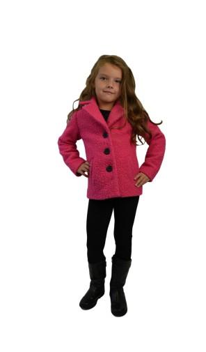 Dívčí vlněný kabát do pasu Exclusive