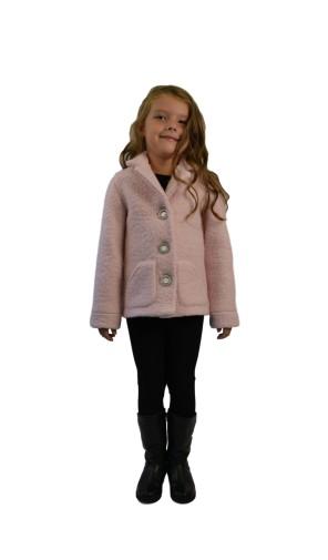 Dívčí vlněný kabát s fazonkou Exclusive