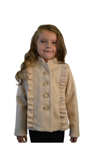Dívčí luxusní kabátek s vyšším stojáčkem