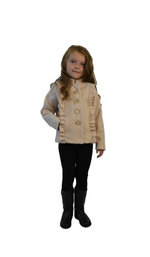 Dívčí luxusní kabátek s volánky Exclusive