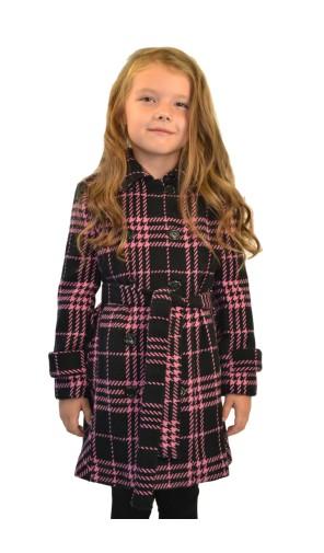 Dívčí lehký vlněný kabát
