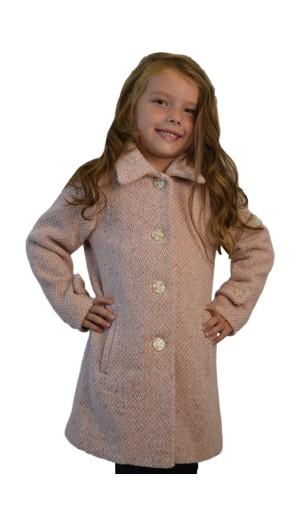 Dívčí romantický vlněný kabát
