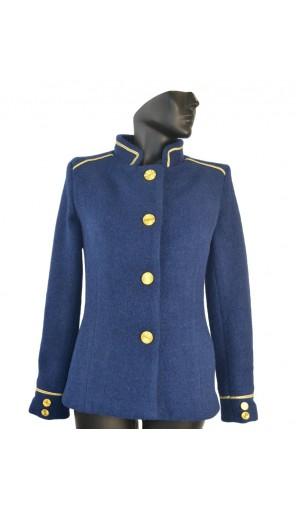 Dámský vlněný kabát kratšího střihu