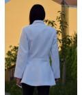 Dámský vlněný kabát sakový se zapínáním na poutka Exclusive