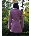 Dámský vlněný kabát s šálovým límcem