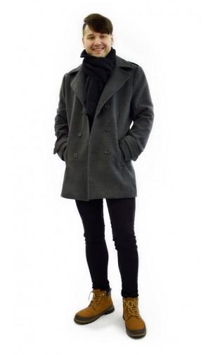 Stylový vlněný pánský kabát Exclusive