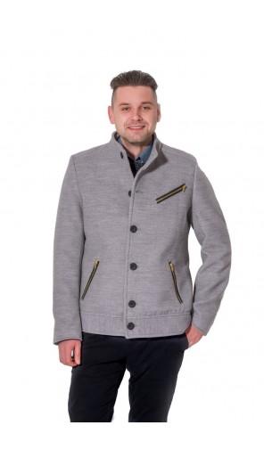 Pánská vlněná kabátová bunda se stojáčkem Exclusive