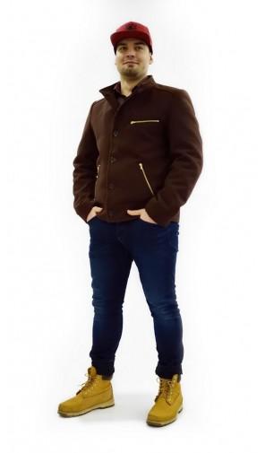 Pánská vlněná kabátová bunda se zipy Exclusive