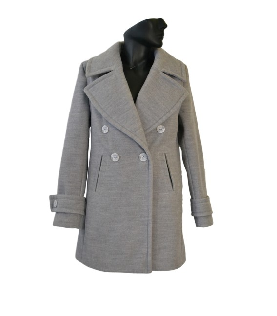 Dámský kabát s velkými klopami