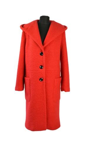 Dámský dlouhý kabát s kapucí