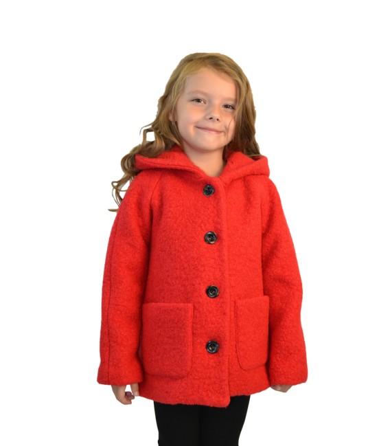 Dívčí kabát s kapucí