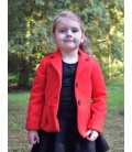 Dívčí vlněný zimní kabátek s volánem Exclusive