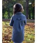 Dívčí zimní vlněný kabátek A střihu Exclusive