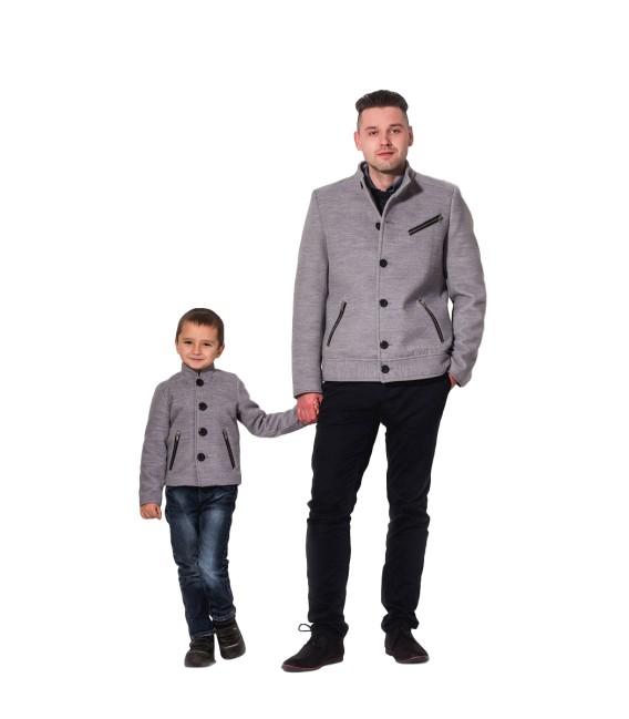 Chlapecký vlněný kabát s ozdobnými zipy Exclusive