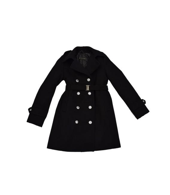 Dívčí vlněný zimní kabátek s dvouřadovým zapínáním Exclusive