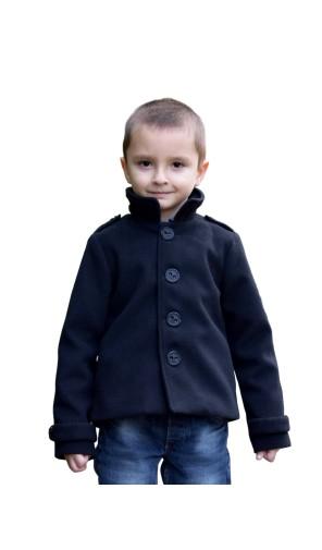 Chlapecký vlněný kabát s fazonkou Exclusive